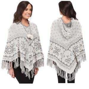 PJ Salvage Fair Isle Reversible Knit Poncho S/M